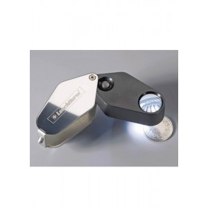 Precision LED 10x Folding Magnifier