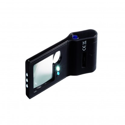 6 in1 Multifunctional Pocket Magnifier with Microscope, UV and LED lights