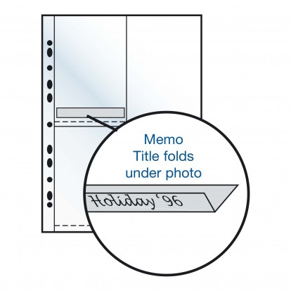 Caption Inserts (200) M1 - fold under the photo to secure in pocket