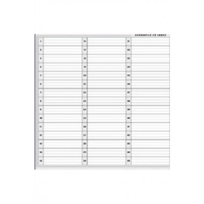 CD/DVD Index Sheets (1set of 2 pages)