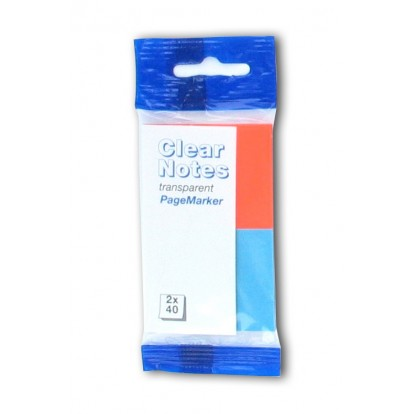 2 Colour Clear Neon Page-Markers Blue/Orange