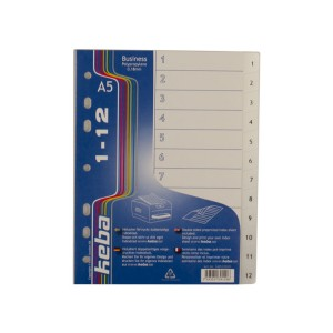 A5 Index Dividers (1-12 part)