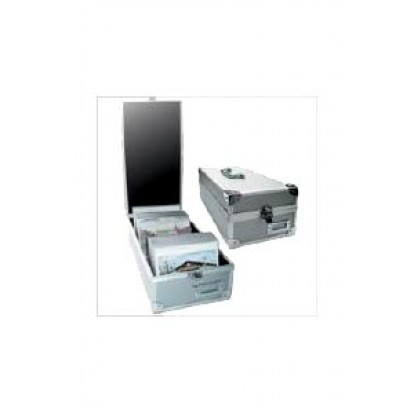 Collectors Aluminium Case with handles - for Postcards Photos etc