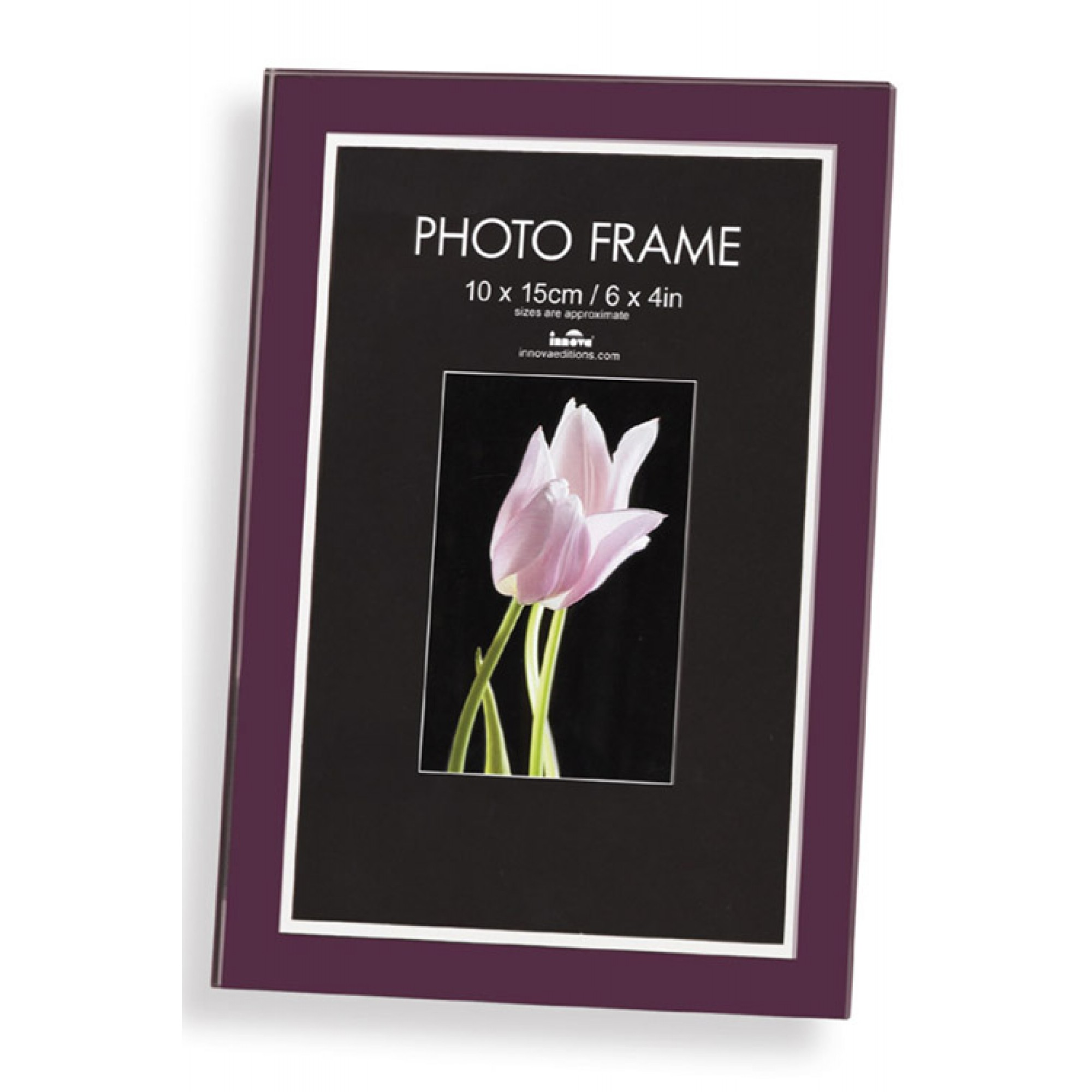 Glass Block 6x4 Photo Frame Available In Black Or Purple