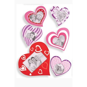 Heart-shaped Sticky Photo Frames (6)