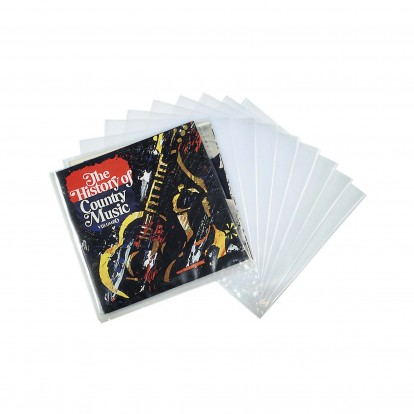 "Clear LP  Record Outer Sleeve for 12"" Vinyl discs (Pack of 10)"