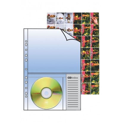 Clear A4 & CD/DVD Pocket Refill (Pack of 10)