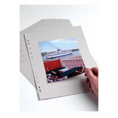 A4 Punched Acid- Free Card pages Grey (Pack of 10)