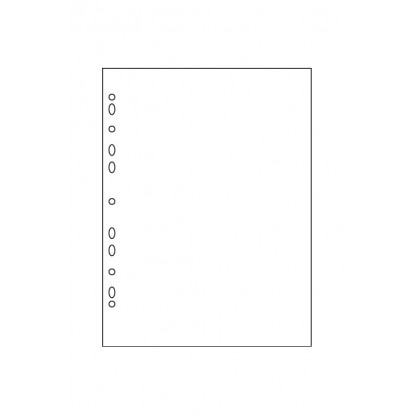 A4 Punched Black or White Card
