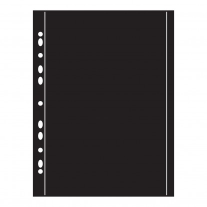 Arrowfile 8 x 12 215x315mm (2) - Black Acid-Free Pocket Refills (Pack of 10)