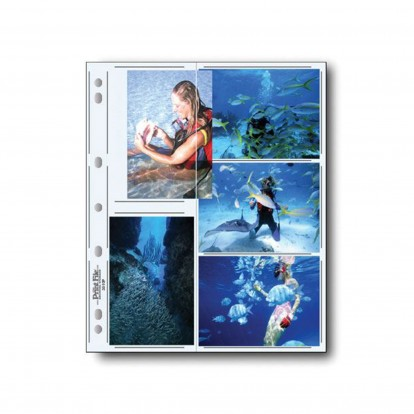 """3.5x5"""" Clear Acid-Free Portrait and Landscape Photo Pocket Refills holds 10 - pack of 10"""