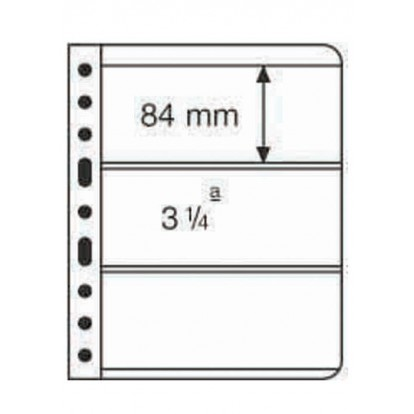 Clear Vario 3C - Pocket Refill Sheets (84x195mm) Pack of 5