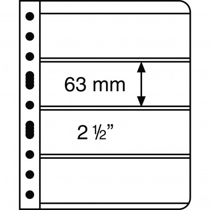 Clear Vario 4C - Pocket Refill Sheets (63x195mm) Pack of 5