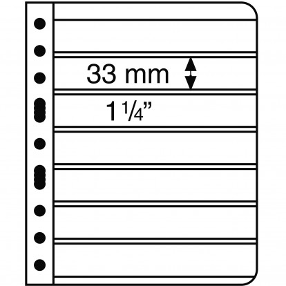 Clear Vario 7C - Pocket Refill Sheets (33x195mm) Pack of 5