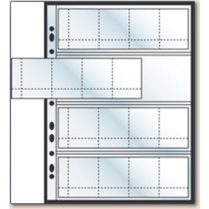 Arrowfile Multi-use Coin pages (16) up to 48mm (Pk of 3)