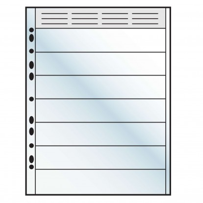 Arrowfile Pocket Refills For Bookmarks and Collectables - 7 pockets 222x38mm (Pack of 10)