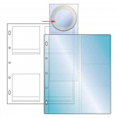 Compact 80mm coins 4 clear pockets on White Sheet (4) (Pack of 10)