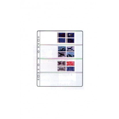Compact Collectors Refill Sheets -  Clear 185x56mm(4) Pk of 10