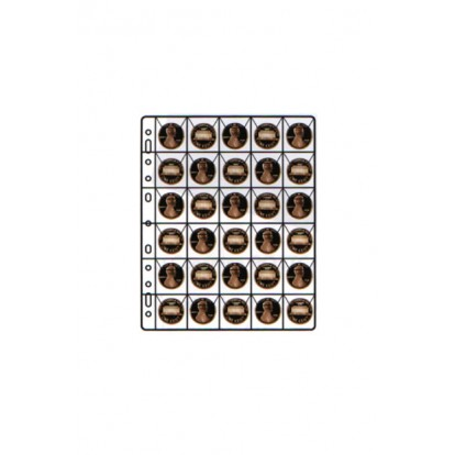 Compact Pocket Coin Holder with Black Card - 30x30mm (Pack of 10)