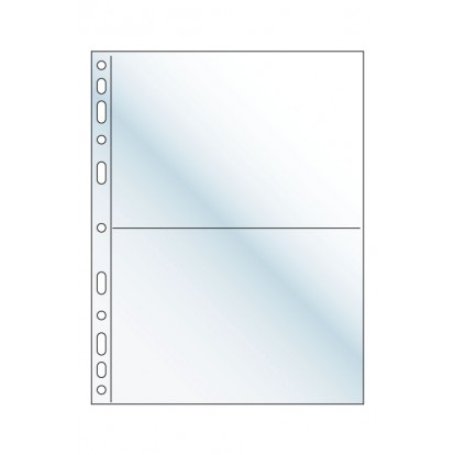 Compact Pocket Refills - Clear 2 pockets - 185x120mm ( Pack of 10)
