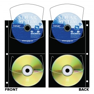 CD/DVD Quartet Slimline - Black (4 CDs)