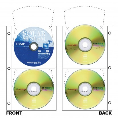 CD/DVD Archival Quartet refills Slimline (4 CDs) - White