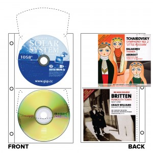 CD/DVD Duo Slimline Refills - White (2 Pockets)