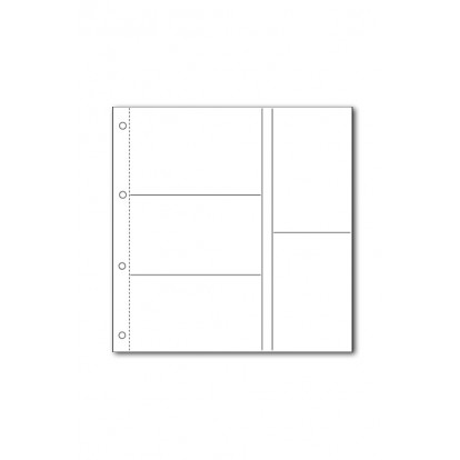 White Large Format Acid-Free Postcard Pocket Refill (5) 145x94mm Pk of 5