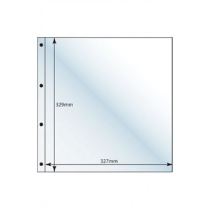 Large Format Clear Postcard Open Refill (2) 329x327mm Pk of 5