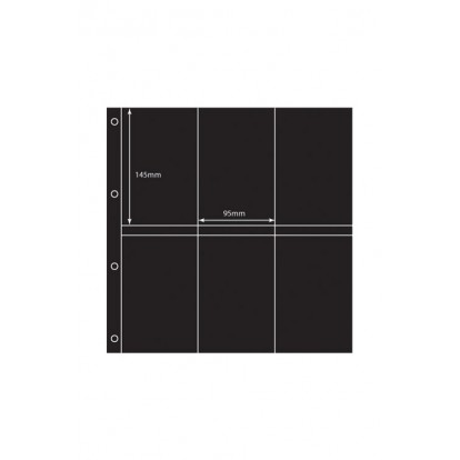 Large Format Black Acid-Free Postcard Pocket Refill (12) 145x95mm Pk of 5
