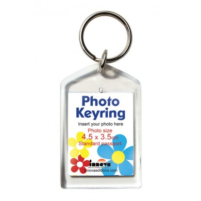 Photo Keyring for your own 45x35mm Print