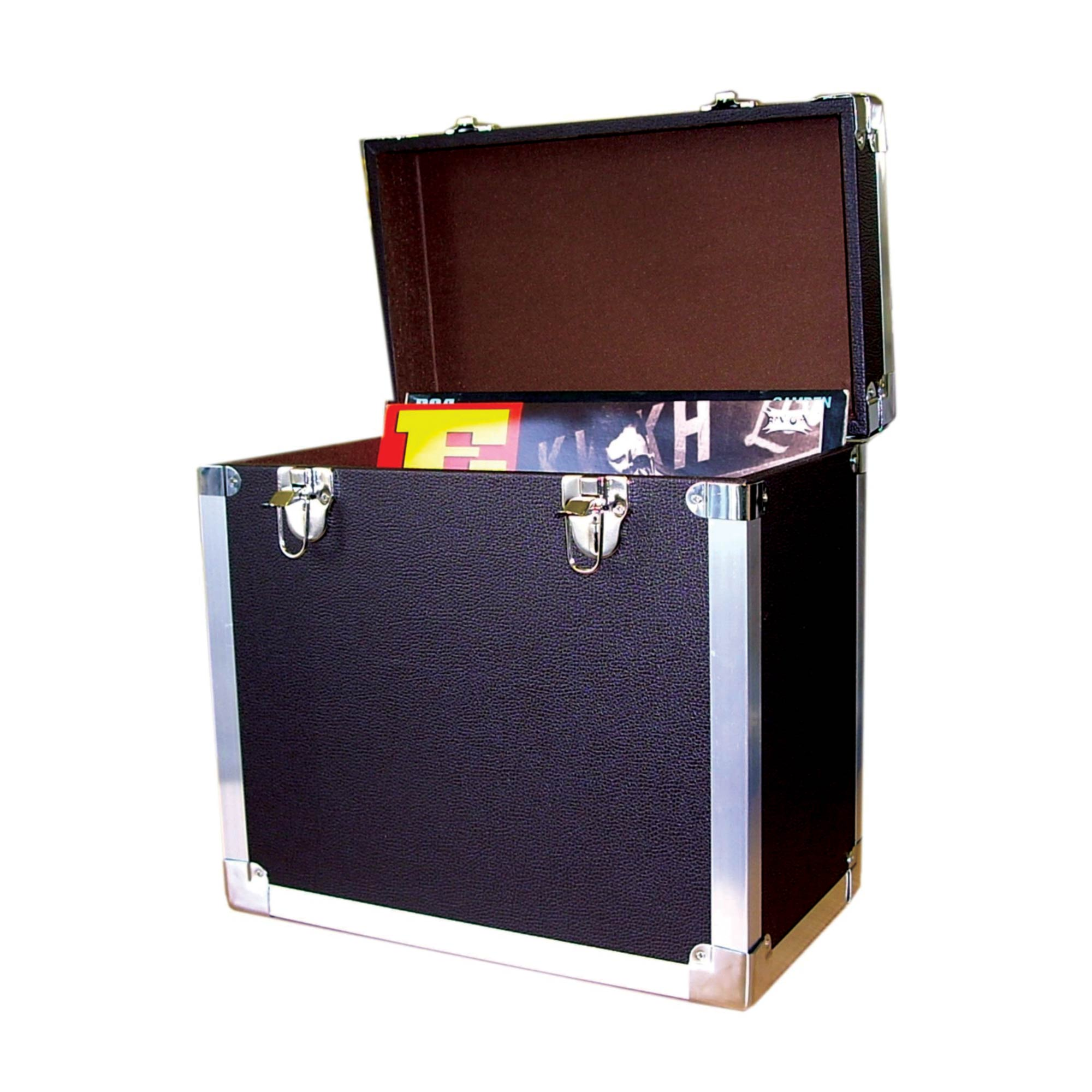 Lp Vinyl Record Storage Case Black 12 Inch