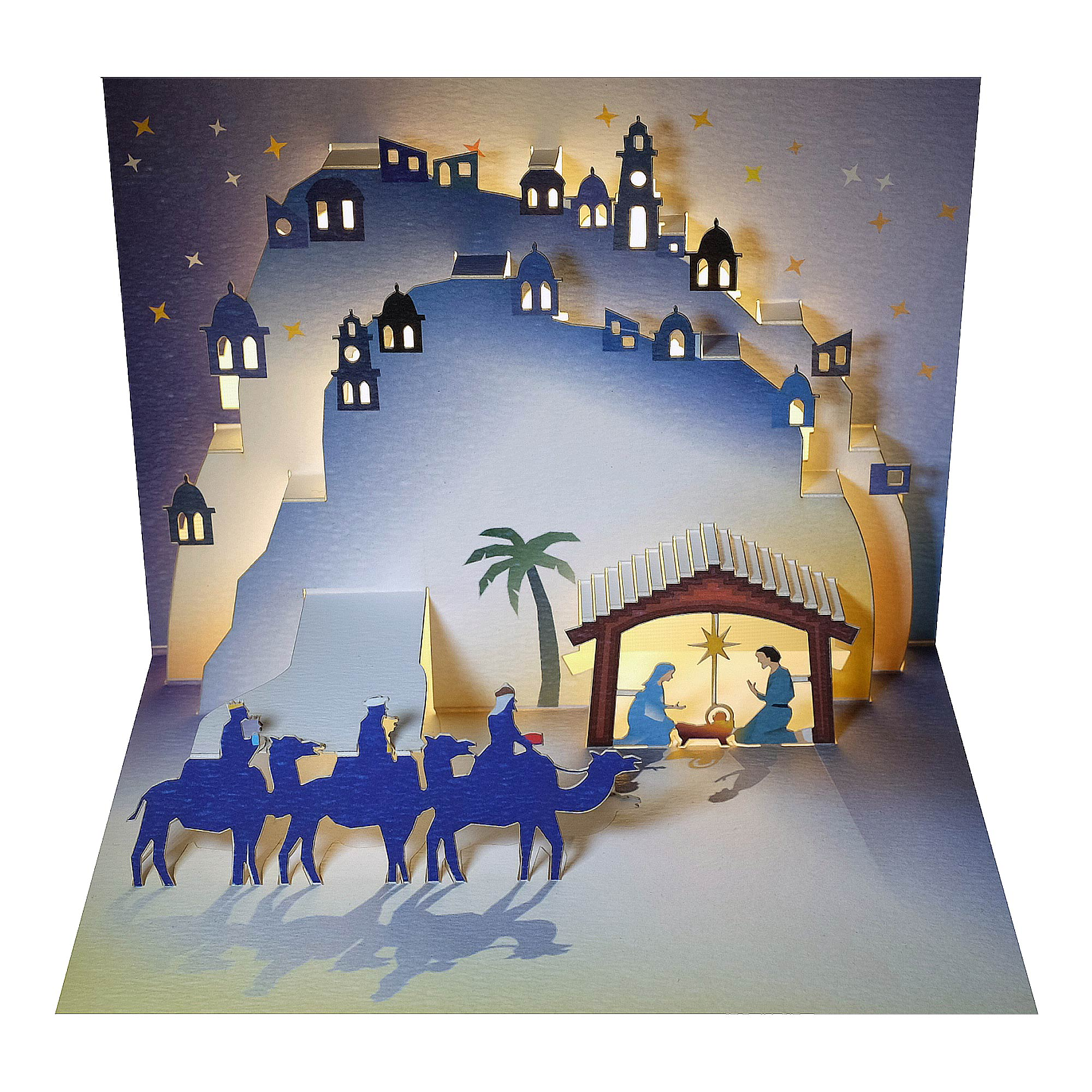 Ge Feng Forever Christmas Pop Up Greeting Cards 3 Wise Men