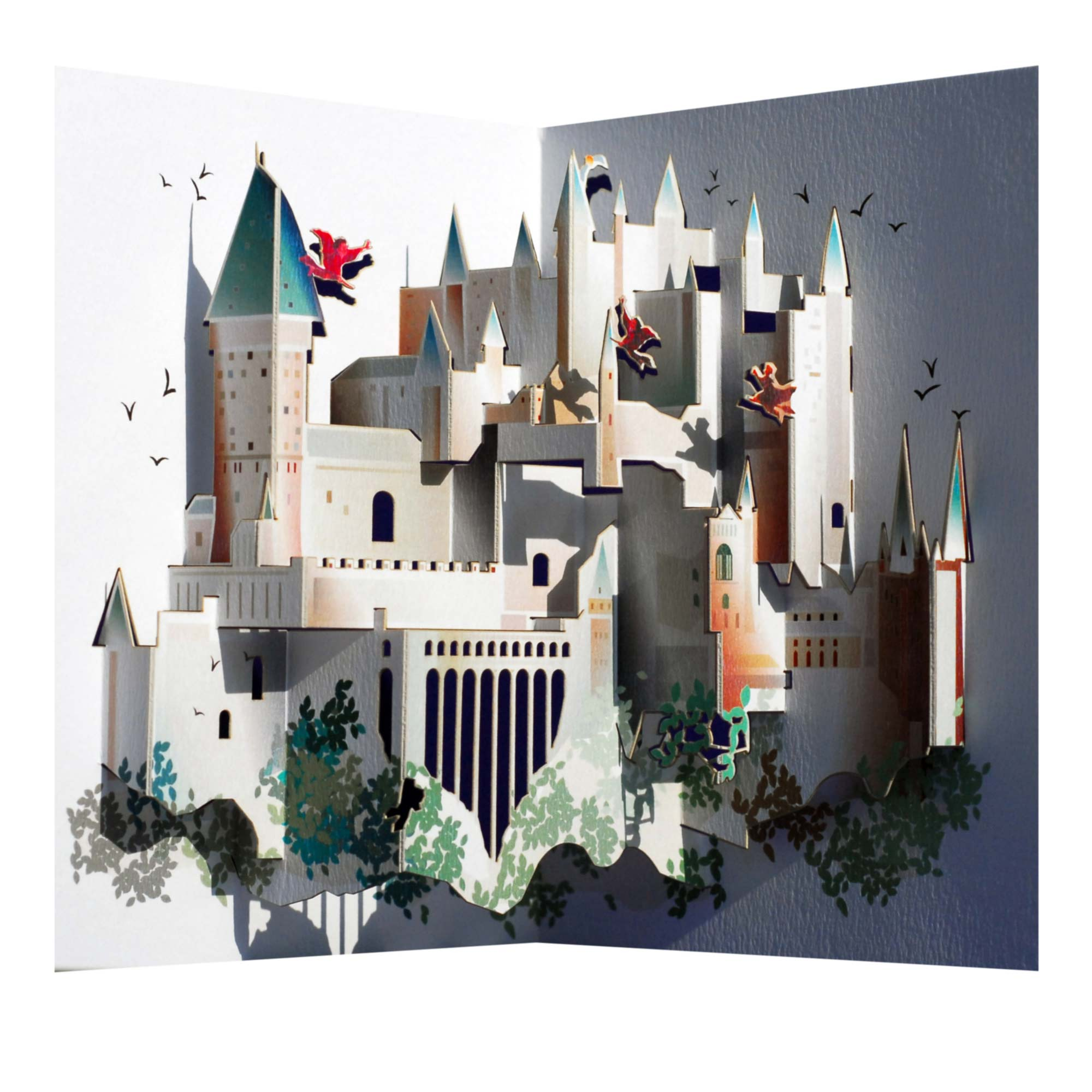 Amazing Harry Potter Hogwarts Pop-up Greeting Card By Ge Feng