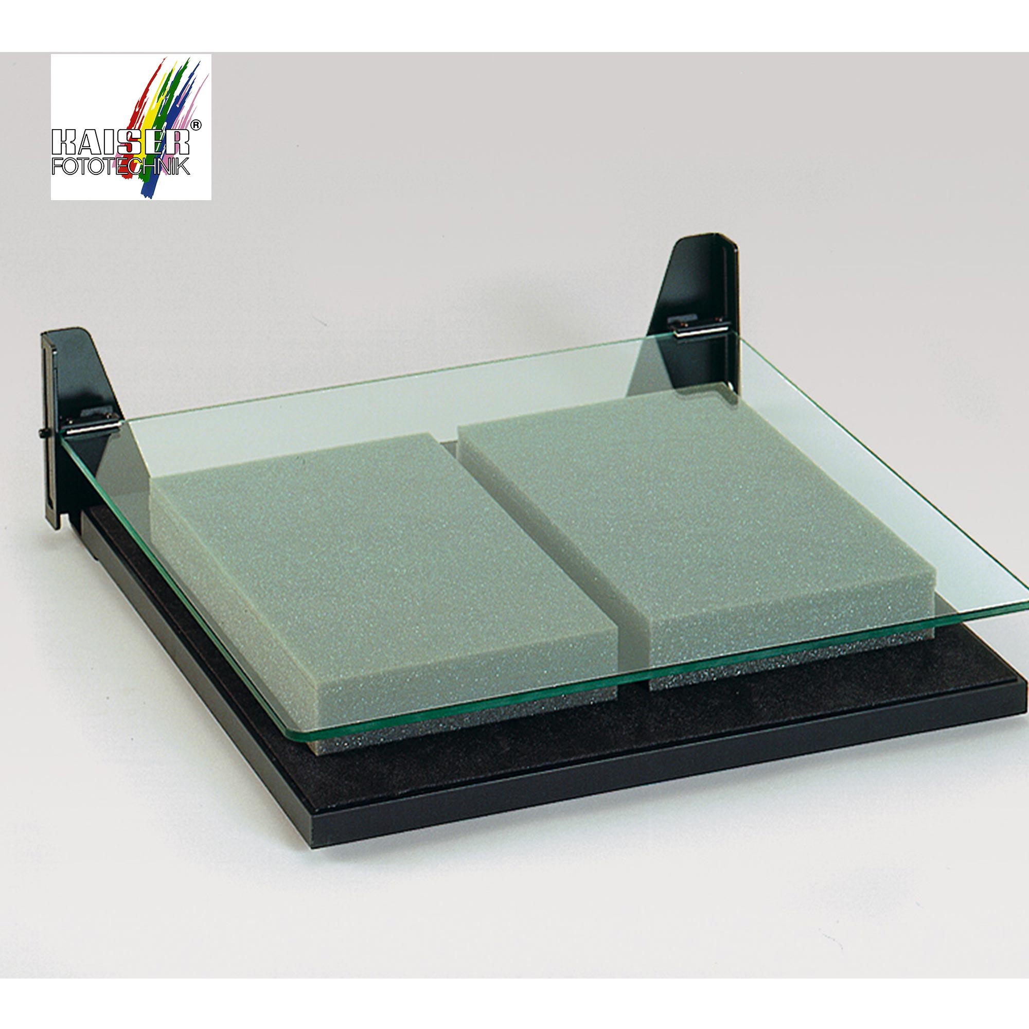 kaiser book holder for copy stand with glass plate