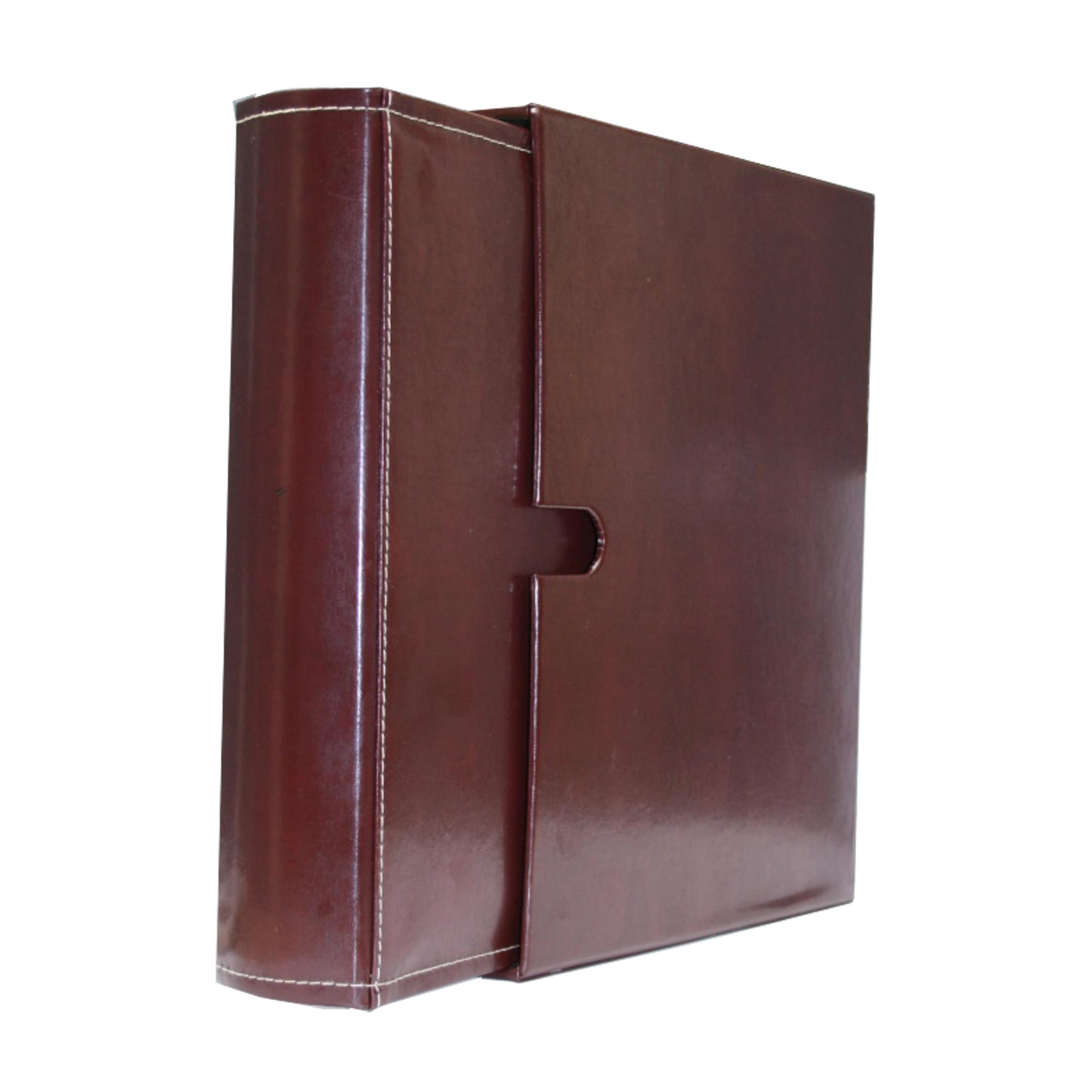 Deluxe Leather Burgundy 4 Ring Binder Album Set