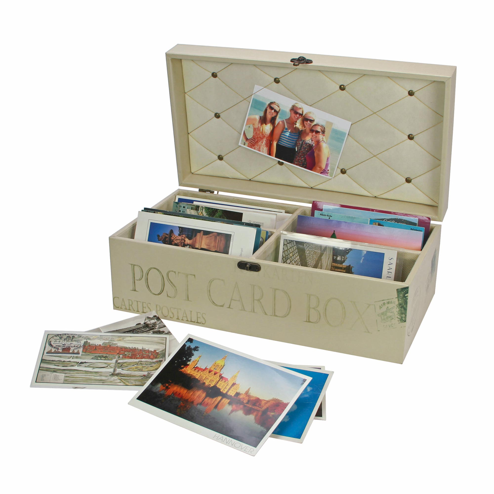 Retro Wooden Postcard Collectors Box for Stockcards