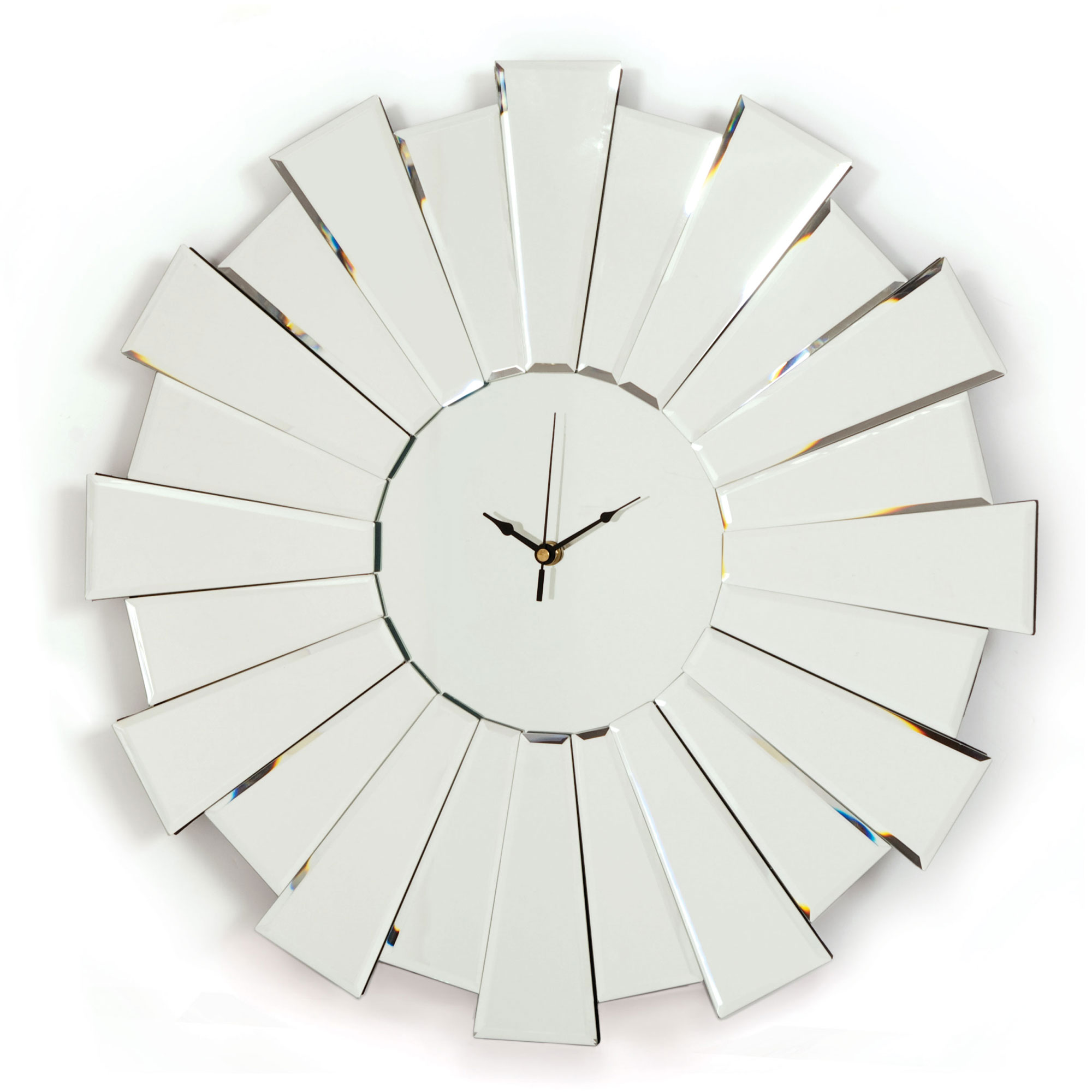 Starburst Art Deco Mirrored Clock For Sale In The Uk